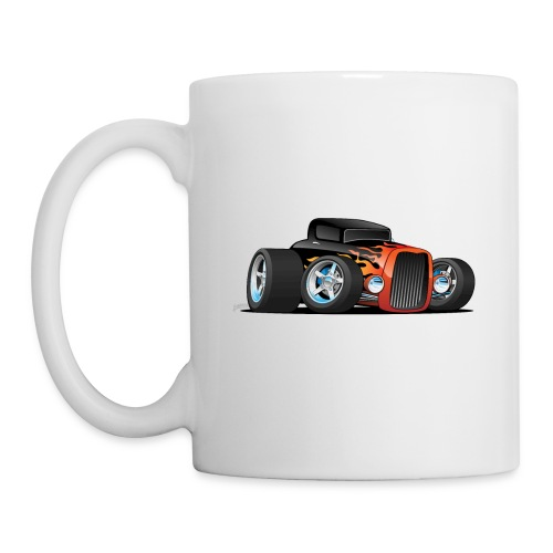 Hot Rod Classic Coupe Custom Car Cartoon - Coffee/Tea Mug