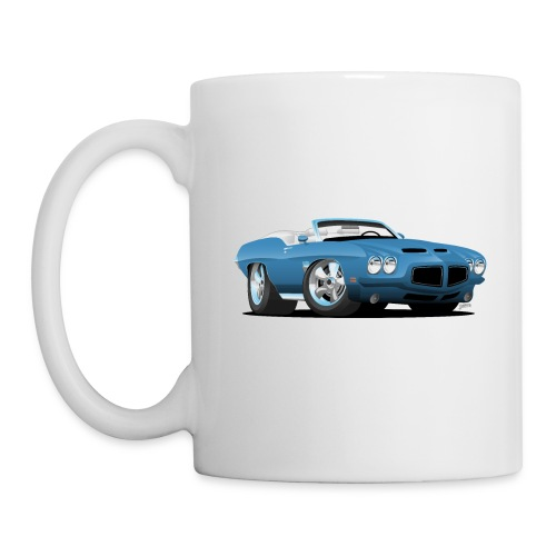 American Classic Seventies Convertible Car Cartoon - Coffee/Tea Mug