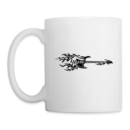Electric Guitar Fire Illustration - Coffee/Tea Mug