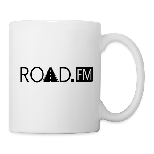 Road FM logo black Front & Back - Coffee/Tea Mug