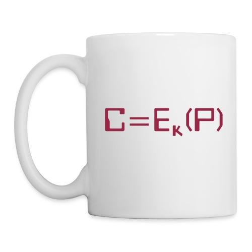 Ciphertext equals encrypted plaintext - Coffee/Tea Mug