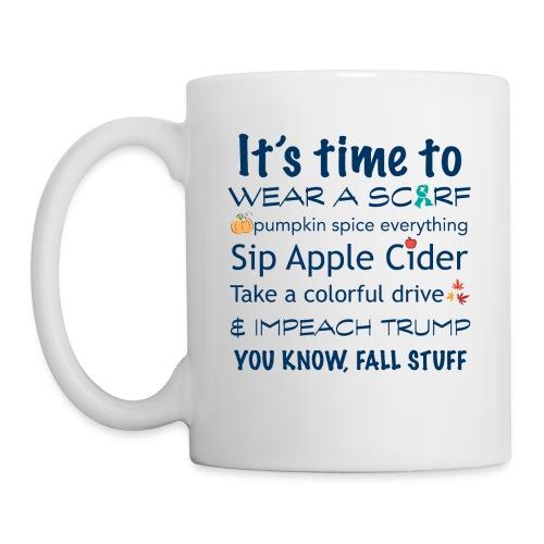 FALL Humor in Blue - Coffee/Tea Mug