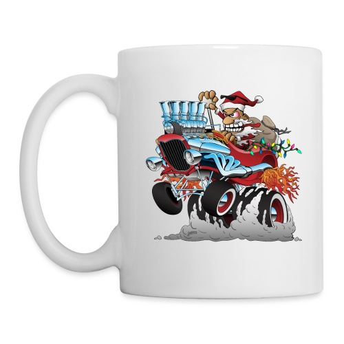 Hot Rod Santa Christmas Cartoon - Coffee/Tea Mug