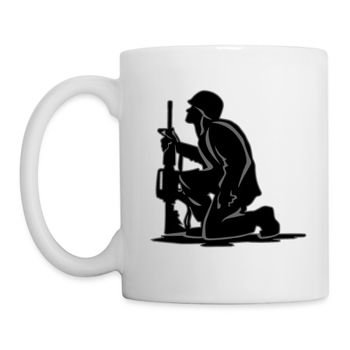 Military Serviceman Kneeling Warrior Tribute Illus - Coffee/Tea Mug