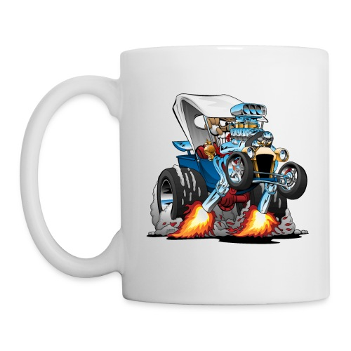 Custom T-bucket Roadster Hotrod Cartoon - Coffee/Tea Mug