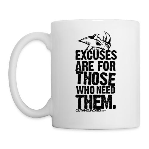 excuses are for those who need them Gym Motivation - Coffee/Tea Mug