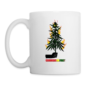 Cannabis On Fire T-shirts - Coffee/Tea Mug