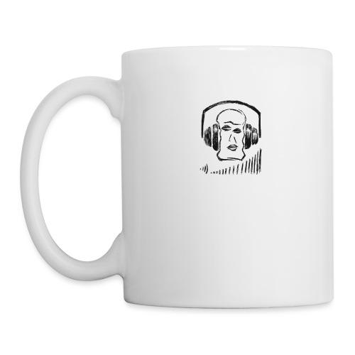 music head headphones sketch - Coffee/Tea Mug