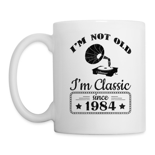 Not Old Classic Record Player Since 1984 - Coffee/Tea Mug