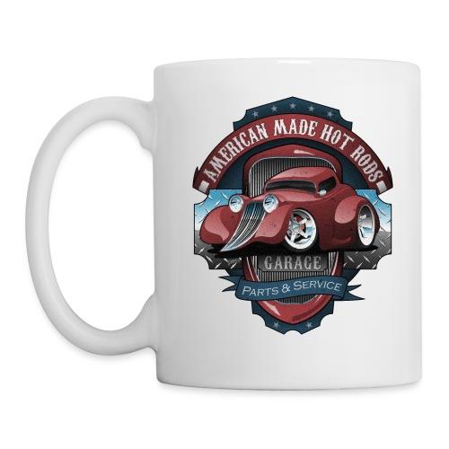American Hot Rods Garage Vintage Car Sign Cartoon - Coffee/Tea Mug