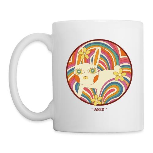 Retro White Kitty - Coffee/Tea Mug