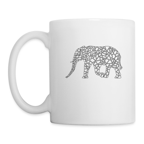 Elephant Geometric - Coffee/Tea Mug
