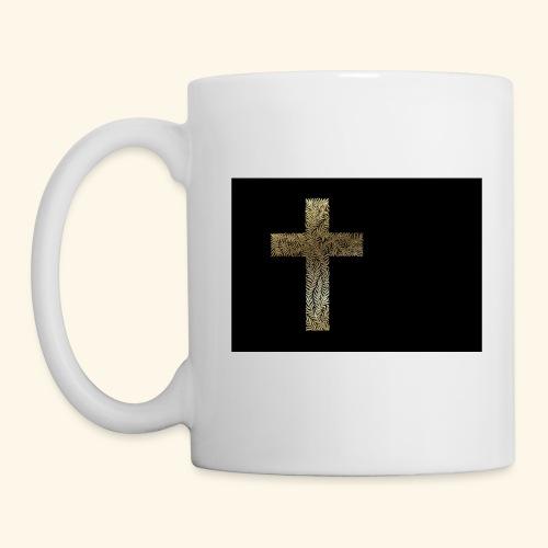 Gold Leaf Cross - Coffee/Tea Mug