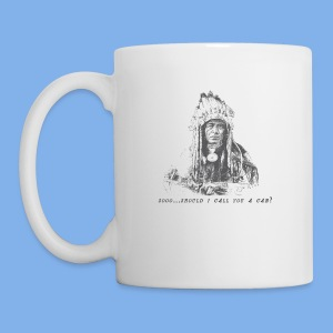 Vintage Fly (Native American Calls You A Cab) - Coffee/Tea Mug