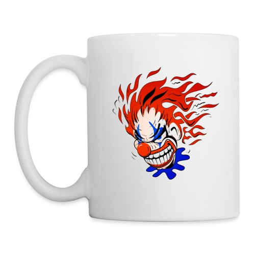 Psycho Crazy Clown Cartoon - Coffee/Tea Mug