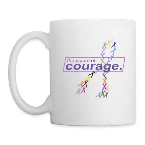 The Colors of Courage Cancer Awareness Ribbons - Coffee/Tea Mug