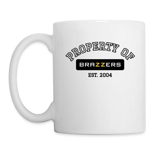 Property of Brazzers logo outline - Coffee/Tea Mug