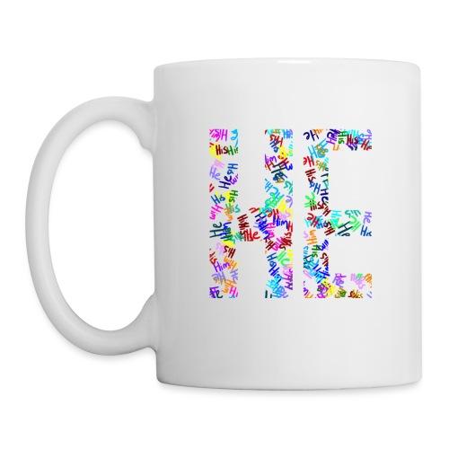 He/Him/His Pattern He - Coffee/Tea Mug