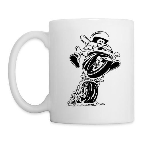 Sportbike motorcycle cartoon illustration - Coffee/Tea Mug