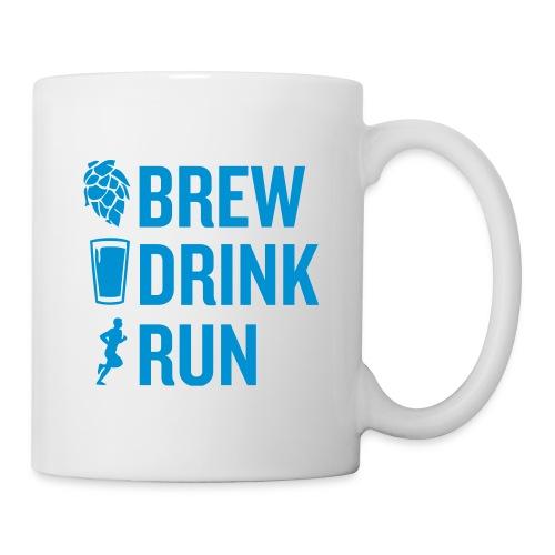 Brew Drink Run Square Logo - Coffee/Tea Mug