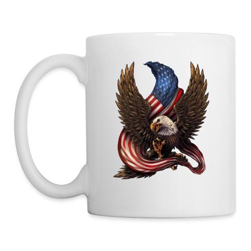 Bald Eagle American Flag - Coffee/Tea Mug