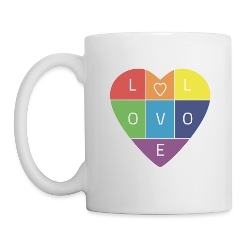 Rainbow Heart - Coffee/Tea Mug