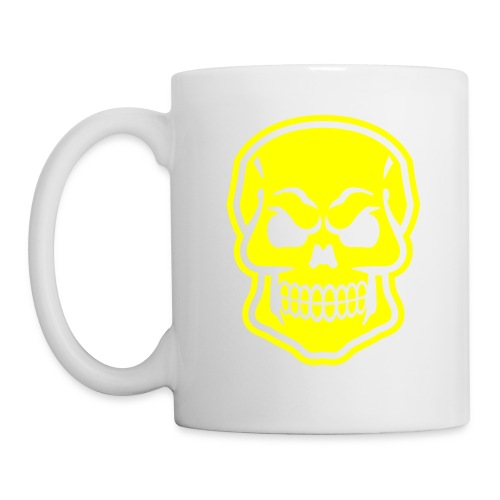 Skull vector yellow - Coffee/Tea Mug