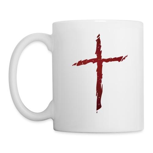 Old rugged distressed christian cross - Coffee/Tea Mug