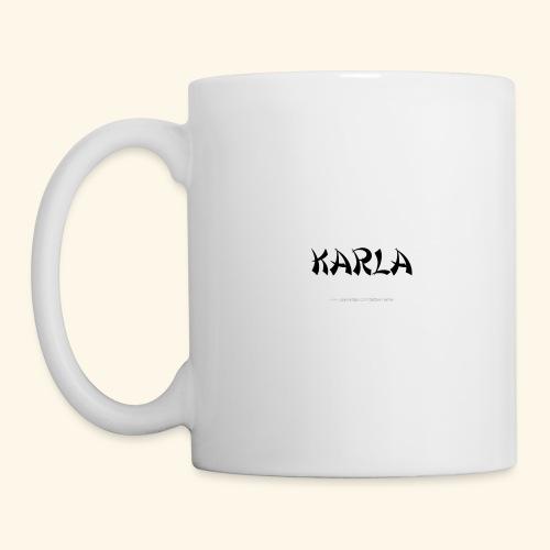 tattoo design name karla - Coffee/Tea Mug