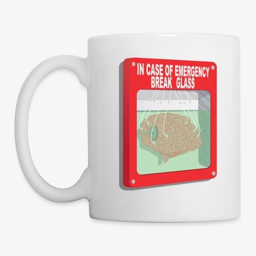 In case of emergency. Break glass and take a brain - Coffee/Tea Mug