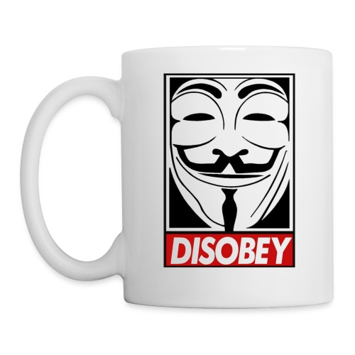 Anonymous Disobey Grin gif - Coffee/Tea Mug