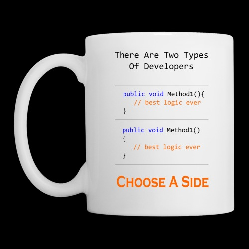 Code Styling Preference Shirt - Coffee/Tea Mug