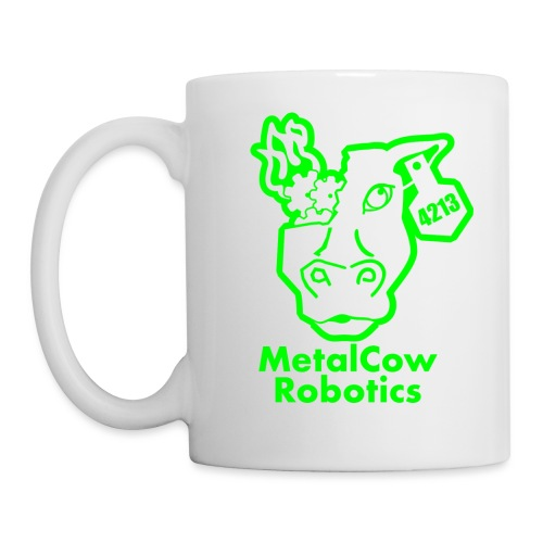 MetalCowLogo GreenOutline - Coffee/Tea Mug