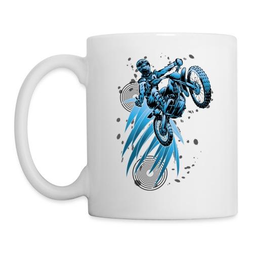 Blue Psycho Dirt Biker - Coffee/Tea Mug