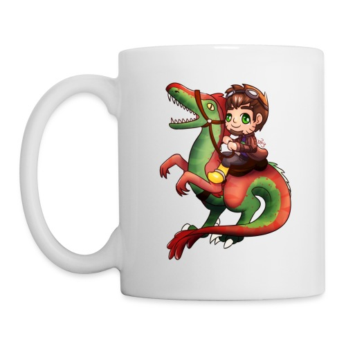 Poet Raptor Riding - Coffee/Tea Mug