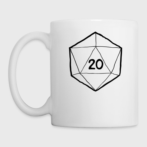Fantasy Dice d20 - Coffee/Tea Mug