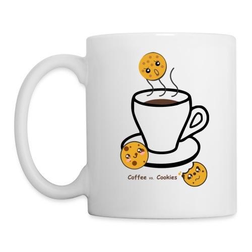 coffee vs cookies - Coffee/Tea Mug