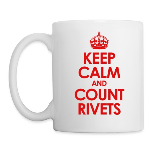 keep calm count rivets red png - Coffee/Tea Mug