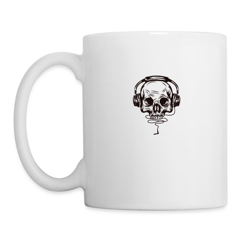 music skull head - Coffee/Tea Mug