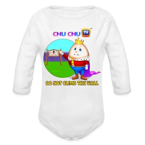Motivational Slogan 7 - Organic Long Sleeve Baby Bodysuit