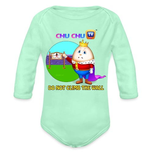 Motivational Slogan 7 - Organic Long Sleeve Baby Bodysuit