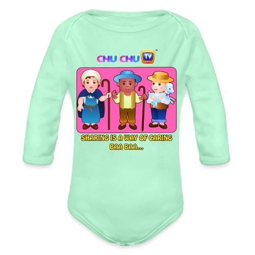 Motivational Slogan 3 - Organic Long Sleeve Baby Bodysuit