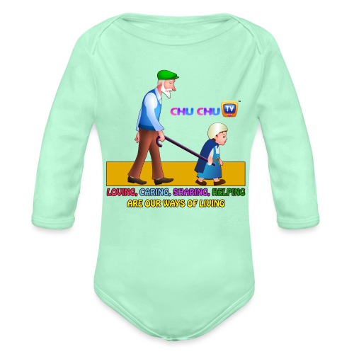 Motivational Slogan 2 - Organic Long Sleeve Baby Bodysuit