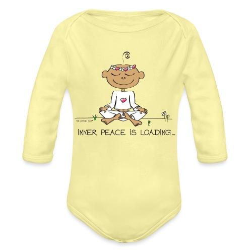 Inner Peace is Loading - Organic Long Sleeve Baby Bodysuit