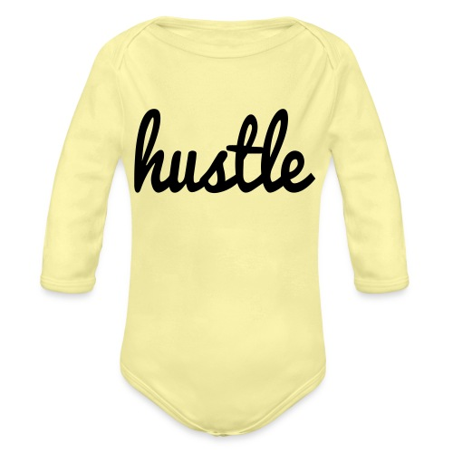 hustle vector - Organic Long Sleeve Baby Bodysuit