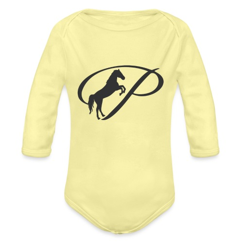 Transparent 80 Black - Organic Long Sleeve Baby Bodysuit