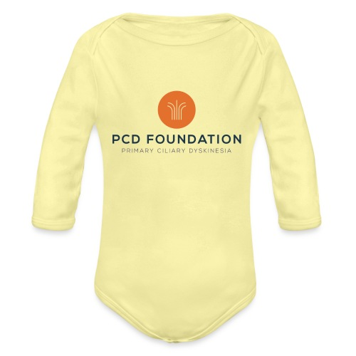 PCDF full logo - Organic Long Sleeve Baby Bodysuit