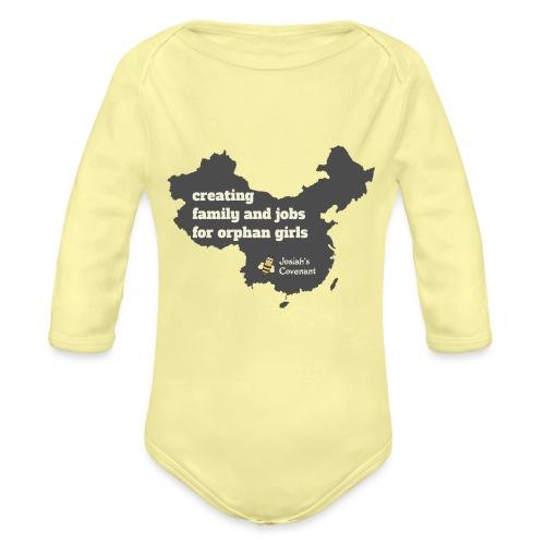 Josiah's Covenant - map - Organic Long Sleeve Baby Bodysuit