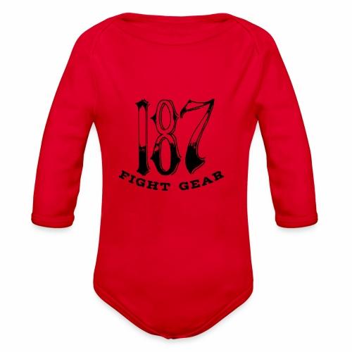 Trevor Loomes 187 Fight Gear Logo Best Sellers - Organic Long Sleeve Baby Bodysuit