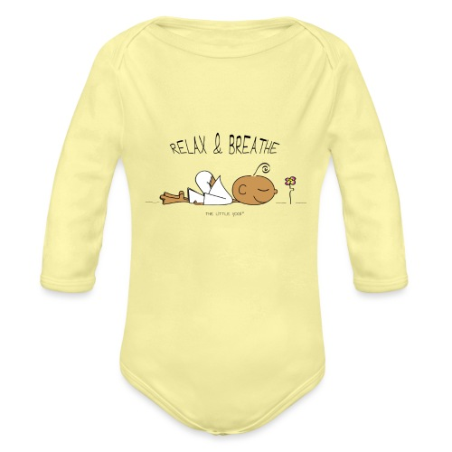 Relax & Breathe - Organic Long Sleeve Baby Bodysuit